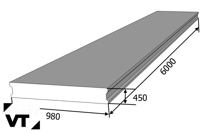 Плиты пролетного строения ПР серия 3.503.1-75 выпуск 5